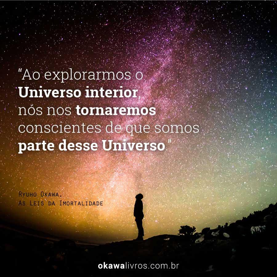 Ao explorarmos o Universo interior, nós nos tornaremos conscientes de que somos parte desse Universo